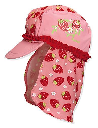 Playshoes Mädchen UV-Schutz Erdbeeren Mütze, Mehrfarbig (original 900), Small (Herstellergröße: 49cm)